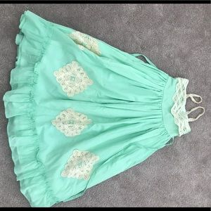 Well Dressed Wolf Mint Green Maxi  Size 4T